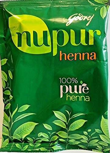 Godrej Nupur Henna Natural Mehndi for Hair Color with Goodness of 9 Herbs, 14.10 ()