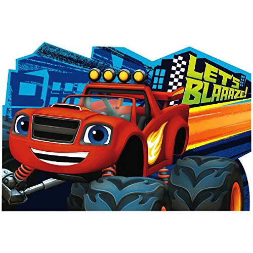 Blaze and the Monster Machines Postcard Invitations, Party -