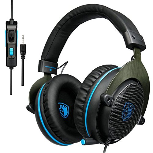 51zqF5 s4eL - PS4-XBOX-ONE-Gaming-Headsets-SADES-R3-PC-Gaming-Headphone-Over-Ear-Headphones-with-Microphone