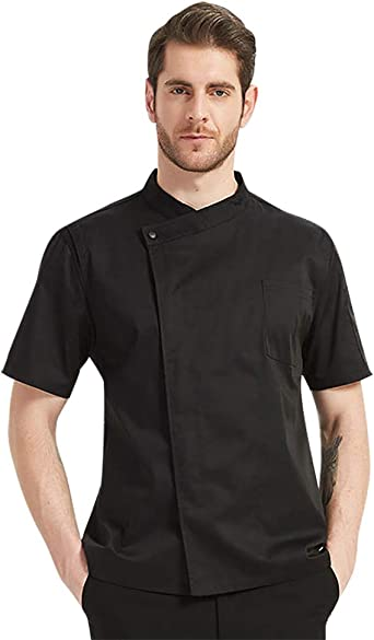 All-black Working Clothes Breathable Material Waiter Trousers Chef Chef Uniform