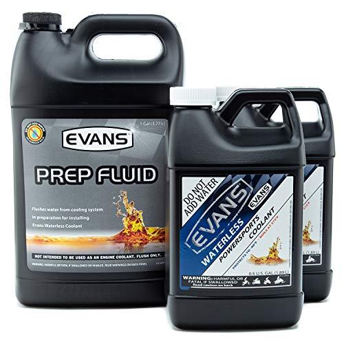 EVANS Coolant EC41001 EC72064-2 Powersports Waterless Coolant and Prep Fluid Combo Pack, 2 Gallon