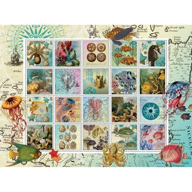 (Bits and Pieces - 500 Piece Jigsaw Puzzle for Adults - Undersea Garden Quilt - 500 pc Marine Sealife Jigsaw by Artist Finchley Paper Arts Ltd.)