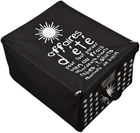 Incidencia Paris 42035 Caja diseño Verano poliéster Negro 50 x 40 ...