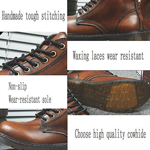 Stivali Leather Martin da Black Fall And uomo Travel Winter qw1TrRHq