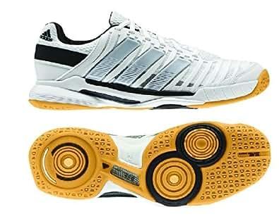 Adidas Adipower Stabil 10.1 Women's Indoor Court Shoe (8, Night Shade/White/Vivid Berry)
