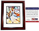 Nolan Smith Autographed Photo - 8x10 MAHOGANY CUSTOM FRAME Certificate of Authenticity COA) - PSA/DNA Certified