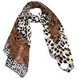 Fashionable Leopard Animal Print Soft Chiffon Scarf - 70-in/Section Print