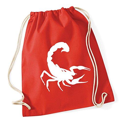 46cm Scorpion Cotton litres Gym Kid School Sack Drawstring Red Bag HippoWarehouse 12 Bright 37cm x vwqdSgg