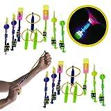 Slingshot Rocketeer (18 Piece) LED Flying Slingshot Toys Set For Kids Rocketeer Flyers & Launchers Games