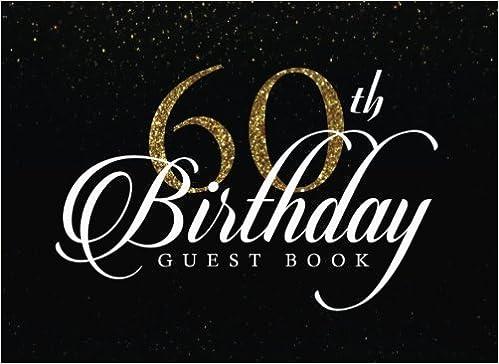 60th birthday guest book 60th birthday gift 60th birthday guest