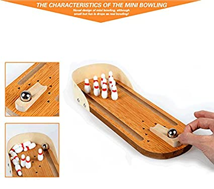 A Type BOER INC Mini Bowling Game Office Toys for Adults on Desk for Intelligence Development and Stress Relief Mini Tabletop Bowling Game for Kid Adult Best Family Party Play Board Desk Top Toys