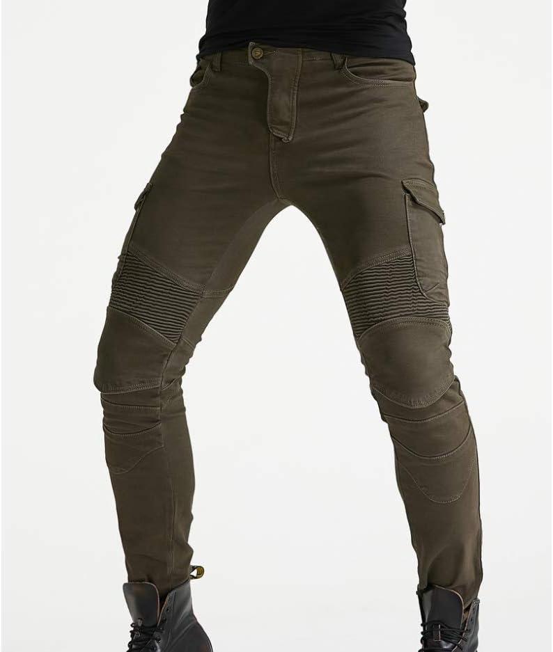 Xcomir Jeans Da Moto Guida Da Moto Quattro Stagioni Pantaloni Casual Elastici Anti-Caduta Pantaloni Anti-Caduta Protezione Migliorata Resistenza AllUsura
