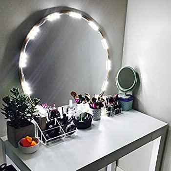 penson lighted mirror led light for cosmetic makeup vanity mirror kit 20 led lights