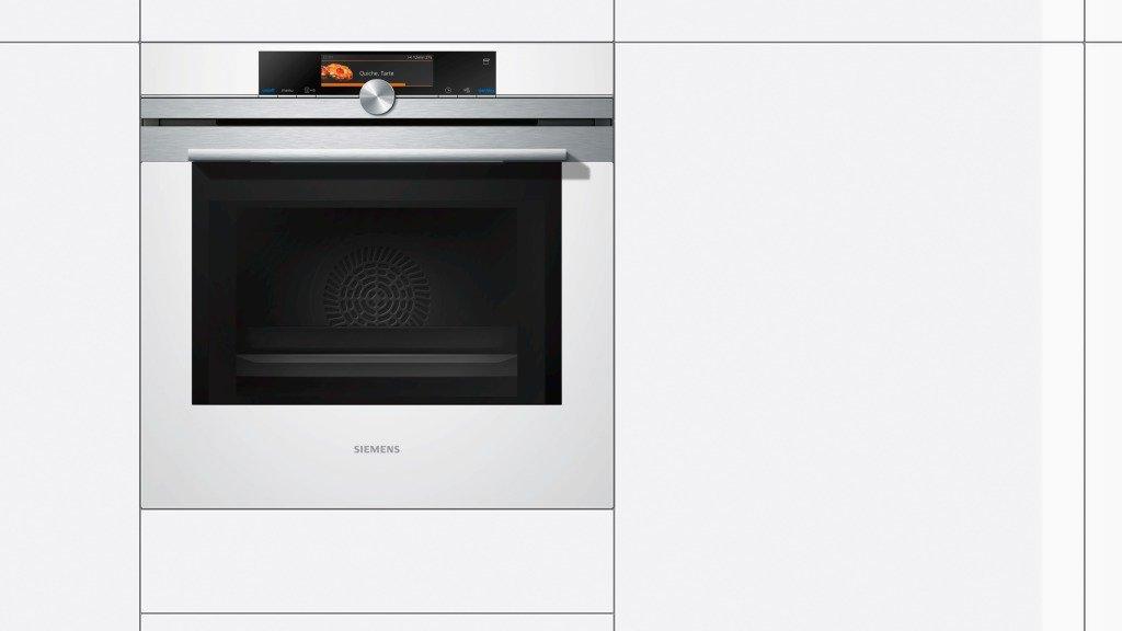 Siemens HN678G4W1 - Horno (67L, Eléctrico, 67L, Incorporado, Acero inoxidable, Color blanco, Giratorio, Tocar): Amazon.es: Hogar