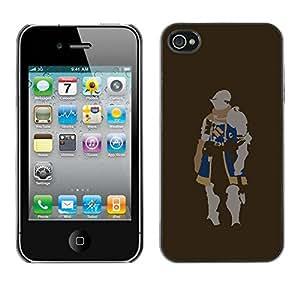 PC/Aluminum Funda Carcasa protectora para Apple Iphone 4 / 4S Minimalist Knight / JUSTGO PHONE PROTECTOR