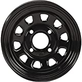 ITP Delta Steel Black Wheel with Machined Finish (12x7''/4x137mm)