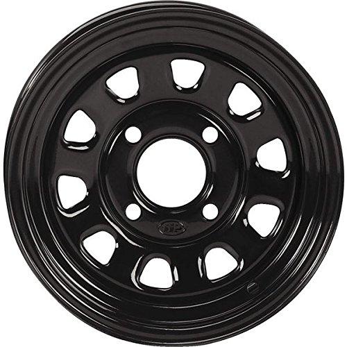 ITP Delta Steel Wheel - 12x7 - 5+2 Offset - 4/110 - Black , Bolt Pattern: 4/110, Rim Offset: 5+2, Wheel Rim Size: 12x7, Color: Black, Position: Front/Rear D12F511 by ITP