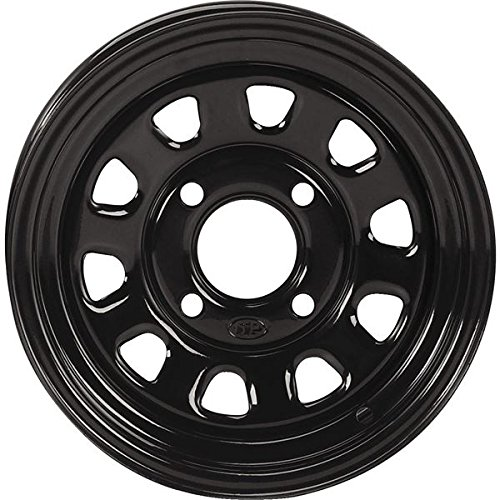 ITP Delta Steel Wheel - 12x7 - 4+3 Offset - 4/110 - Black , Bolt Pattern: 4/110, Rim Offset: 4+3, Wheel Rim Size: 12x7, Color: Black, Position: Front/Rear 1221753014 ()