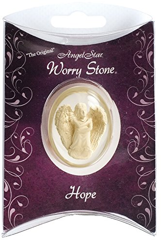 Star Angelic Pendant (Angelstar 1-1/2-Inch Angel Worry Stone, Hope)