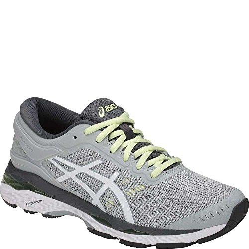 Asics Womens Gel-Kayano 24 Glacier Grey/White/Carbon Running Shoe - 9