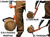 LogOX 3-in-1 Forestry MultiTool- Log Hauler, Cant Hook, And Timberjack - ALL IN ONE Back Saving Tool