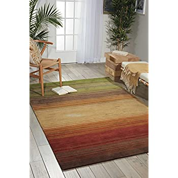 "Nourison Contour (CON15) Harvest Rectangle Area Rug, 3-Feet 6-Inches by 5-Feet 6-Inches (3'6"" x 5'6"")"