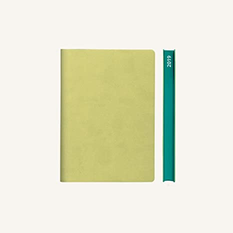 2019 Daily Planner Calendar by Daycraft Signature - A6 Size Light Green (D631L) - 5.88 x 4.13 in.