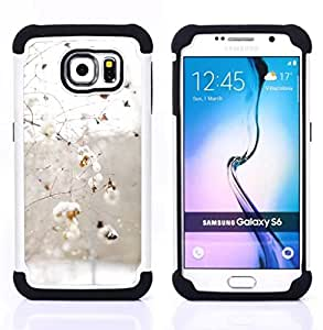 For Samsung Galaxy S6 G9200 - winter snow branches birds white Dual Layer caso de Shell HUELGA Impacto pata de cabra con im??genes gr??ficas Steam - Funny Shop -