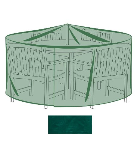 Plow & Hearth Outdoor Furniture All-Weather Cover for Large Round Table & Chairs - Green... by Plow & Hearth