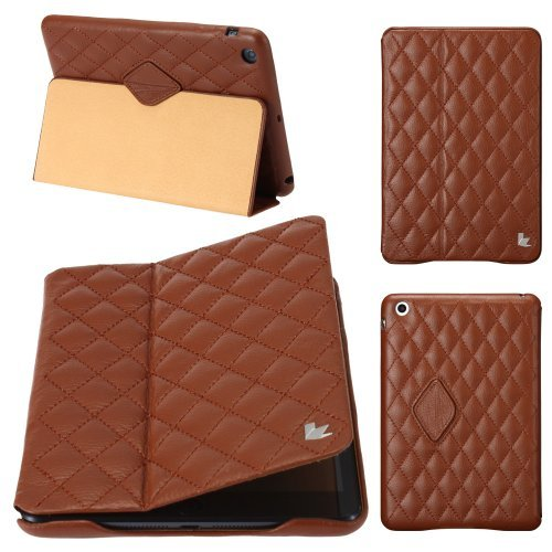 Jisoncase Quilted Genuine Leather Smart Cover Case for iPad 2/3/4 (JS-IPD-05G20) by Jisoncase