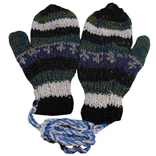 【ノーブランド品】 アジアン衣料 ネパール?ウール紐付きミトン手袋 NBN-20