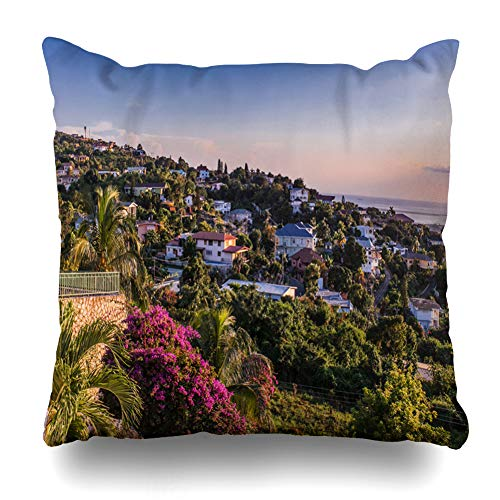 - Decorativepillows Case Throw Pillows Covers for Couch/Bed 18 x 18 inch, Kingston Jamaica Home Sofa Cushion Cover Pillowcase Gift Bed Car Living Home