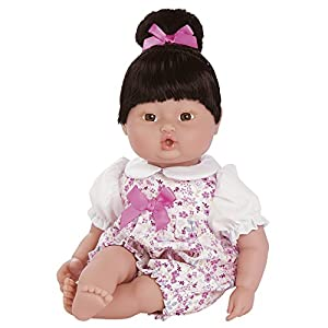 "Adora PlayTime Baby Floral Romper 13"" Girl Weighted Washable Cuddly Snuggle Soft Toy Play Doll Gift Set with Open/Close Eyes for Children 1+ Includes Bottle - 51zqJcLH87L - Adora PlayTime Baby Floral Romper 13″ Girl Weighted Washable Cuddly Snuggle Soft Toy Play Doll Gift Set with Open Eyes for Children 1+ Includes Bottle"