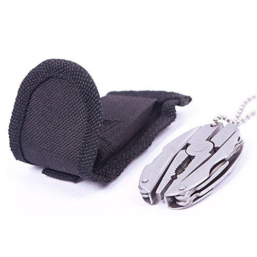 SINEDY Multi Function Stainless Steel Pocket Foldaway Keychain Plier Folding Tactical Knife Screwdriver Set Tool