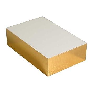 Blanko Visitenkarte Mit Folienschnitt Gold Amazon De
