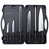 Slitzer Germany 6 Piece Chef's Knife Set, Professional Grade Chef Knives In Convenient Carry Case