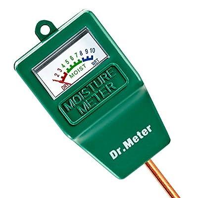 Dr.meter Moisture Sensor Meter Soil Water Monitor Hydrometer for Gardening, Farming, Indoor/Outdoor