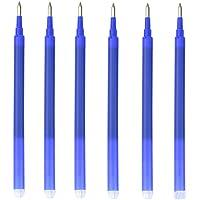 SENRISE 12 recambios para bolígrafos borrables de 0,7 mm, tinta azul borrable