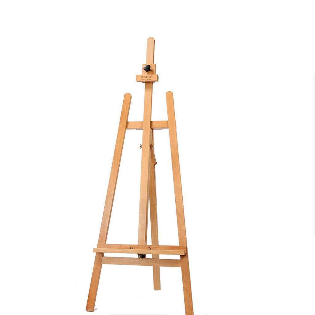 HBJP 折る多機能の純木のイーゼルは、屋内で使いやすい、広告の表示の上に座るために上げ下げすることができます イーゼル   B07RJFX4QZ