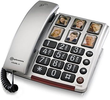 Amplicomms Bigtel 40 Plus Großtastentelefon Silber Elektronik