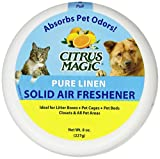 Citrus Magic Pet Odor Absorbing Solid Air Freshener Pure Linen - Pack of 2 - 20-Ounces Each
