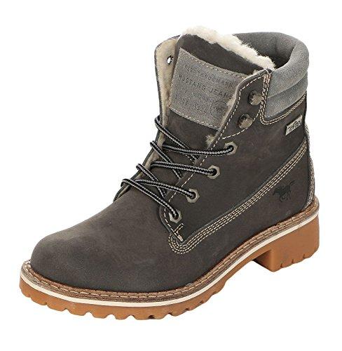Schuhe Dunkelgrau Übergrößen in Mustang Boots Beige Damen qORnzUtZ