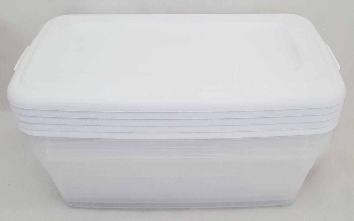 Sterilite 6 Quart Storage Box- White - Set of 5 by STERILITE