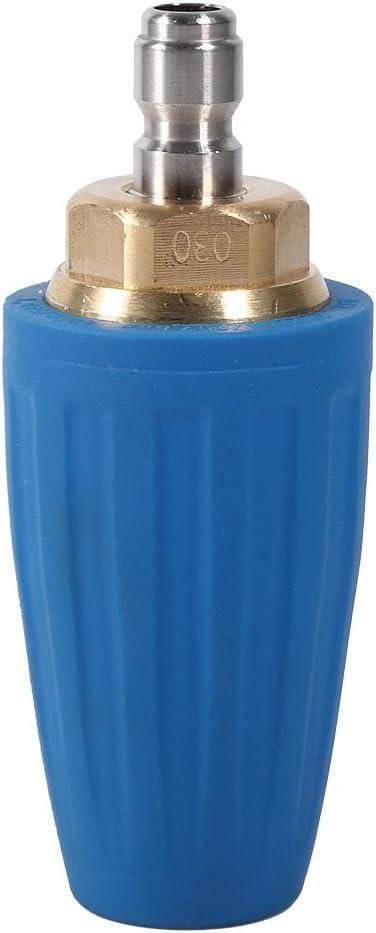 4 3000 psi rotante spray Turbo ugello in ottone e struttura in acciaio INOX per idropulitrice ad alta pressione pulitore pistola di 1//10,2 cm Quick Connect