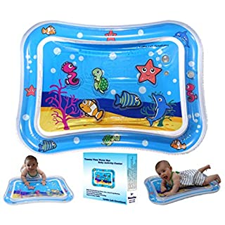 Little Lab Creations Inflatable Tummy Time Baby Water Mat Promotes Early Development of Newborns | Fun Floor Play Mat for Infants | Sensory Tummy Time Mat | Newborn Toys