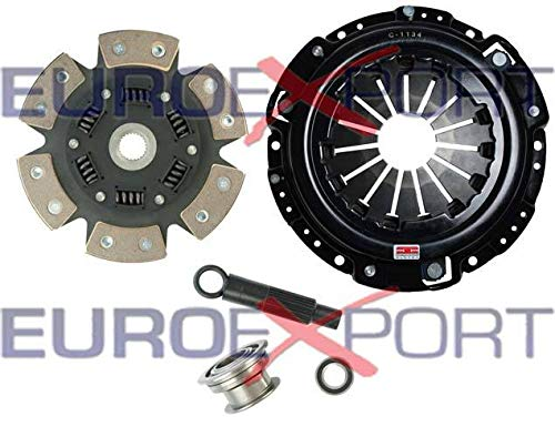 Competition Clutch Disc and Pressure Plate Kit for Honda H22 Prelude 2.0L 2.1L Ceramic 6 Puck Sprung Stage 4 ()