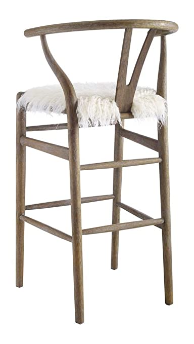 Linon Ellis Wishbone Counter Stool In Gray Brown Wash Home Decor Products Inc