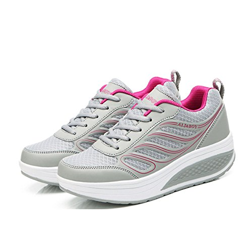 Zapatos para Color tamaño Sneakers Heel Mujer Rojo de Round PU Negro Gris Blanco 35 Comfort Toe Fall Flat Spring ZYZrqwTP