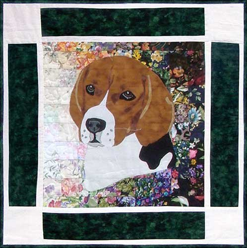 Whims Rachel's Dog Kennel Block #6 ONLY - Beagle Watercolor Quilt Kit - Quilt Supplies