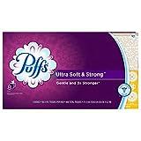 Puffs Facial Tissues, Ultra Soft & Strong Facial Tissues, 24 Cubes, 56 Tissues per Cube